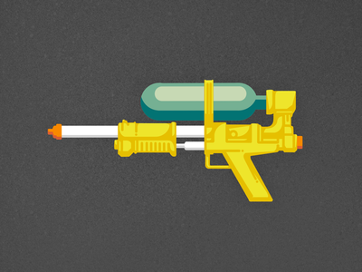 Packin' Heat — Super Soaker 50 Flat Design