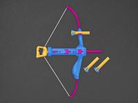 OG Nerf Bow - Flat Illustration