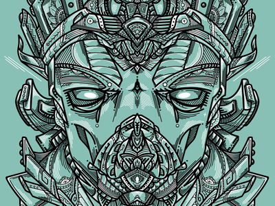 'Ancient Seer' Mono-line Drawing