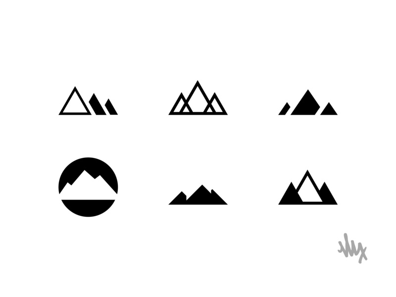 Mountain Logo Exploration identity branding visual design graphic  design vector nature logo design logo mountain mountains