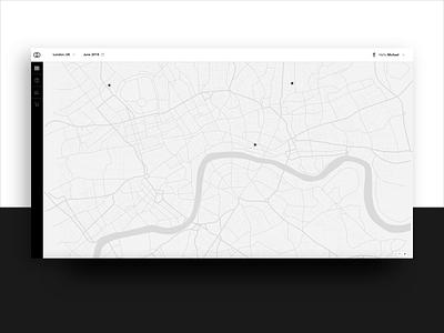 Franchise management - map of shops franchise shop luxury elegance ux app financial summary map data chart details web app stx next stx web design ecommerce shopping retail data visualization