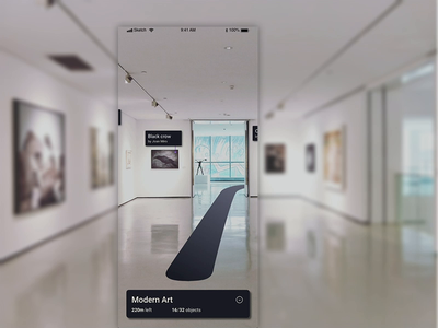 ARt Gallery - augmented experience ui design navigation interface animation app mobile user experience augmentedreality augmented ar ux
