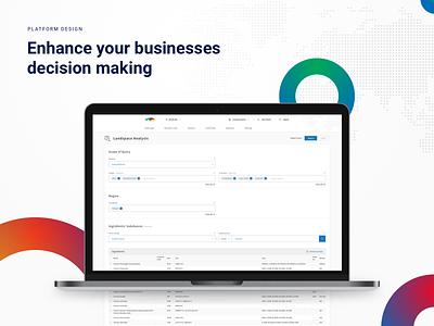 Decernis - Enterprise platform for risk management web app application business platform bootstrap interface app design data database webapp internal corporate ux ui software enterprise
