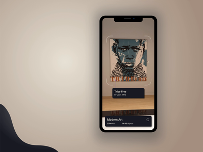 ARt Gallery - mobile app concept ecommerce product uxui ux user interface design user experience user interface ui mobile ui mobile interface design app design augmented reality augmentedreality augmented ar app animation