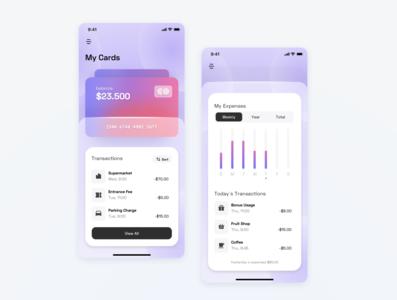 Banking App | Concept money app wallet expenses tracking chart finance app finance banking mobile ui ui minimal app design