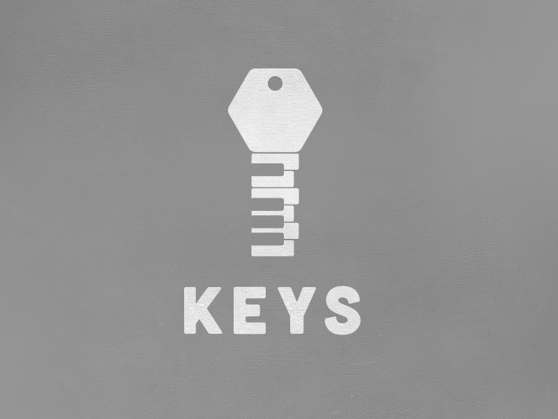 Keys Logo logo vector flat keys music key