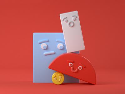 BlockBros shapes cinema 4d toy design illustration 3d c4d
