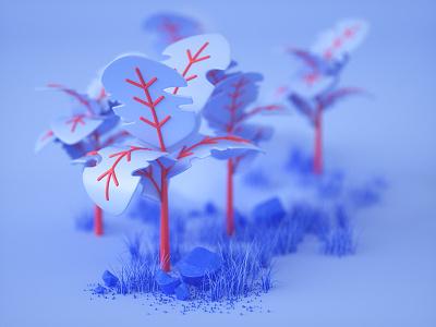 Plants plants 3d stylized octane c4d