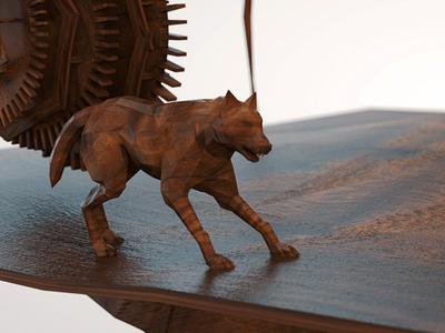 Wooden Wolf