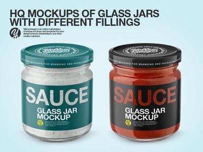 Glass Jars PSD Mockups