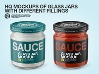 Glass Jars PSD Mockups