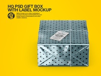 Box with Label PSD Mockup