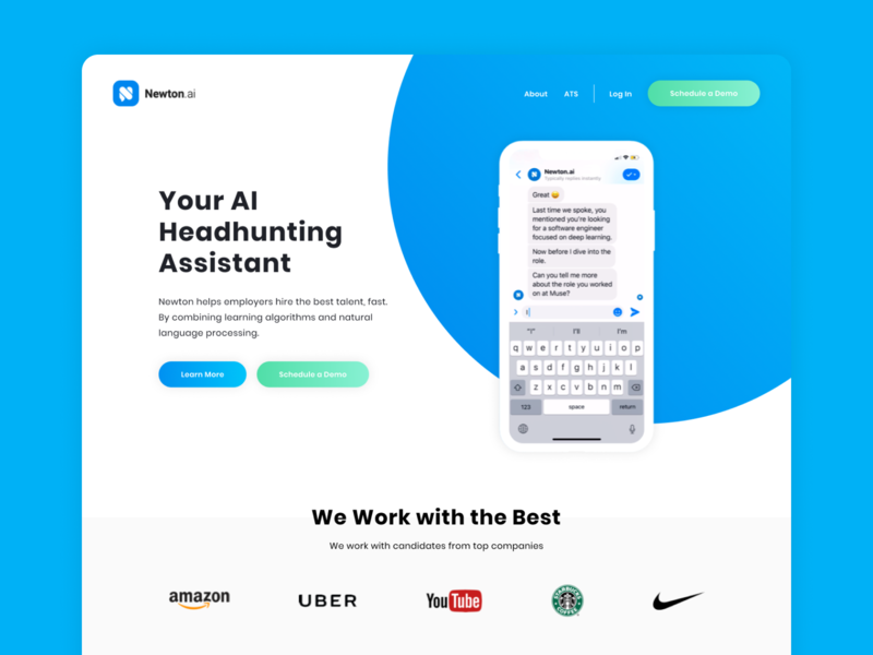 Landing Page for Newton.ai