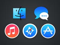 Flattened OS X icons