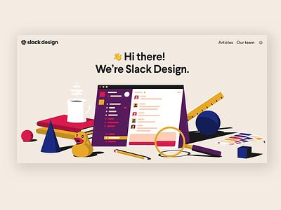 Slack Design Site animation web illustration branding website design