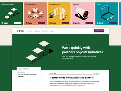 Launching Slack Connect branding vector website web illustration design animation