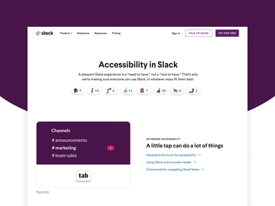 Accessibility in Slack design systems brand webdesign website web animation design