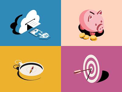 Looking for freelance conceptual illustrator at Slack illustrator editorial brand design graphic design branding illustration