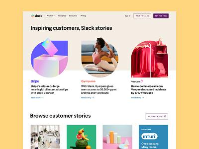 Customer Stories Redesign graphic design brand website web branding design