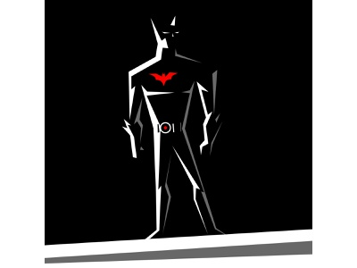 BATMAN BEYOND black and white dc comics comic books batman vector character design illustration