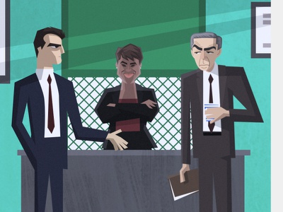 LAW & ORDER caricature character design illustration