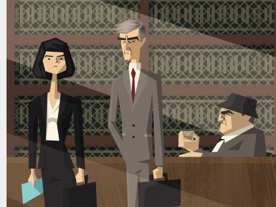 LAW & ORDER characterdesign caricature law and order illustration