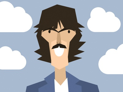 GEORGE HARRISON music the beatles caricature portrait character design vector illustration