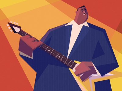 ALBERT KING the blues music caricature character design illustration