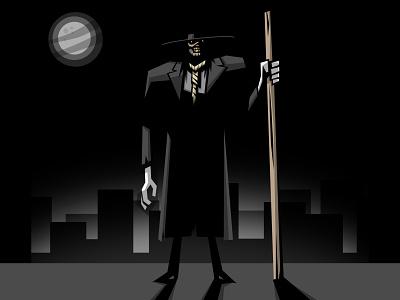 NEVER FEAR   Scarecrow batman character design vector illustration