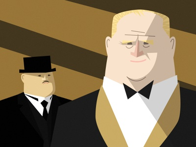 GOLDFINGER james bond character design vector illustration