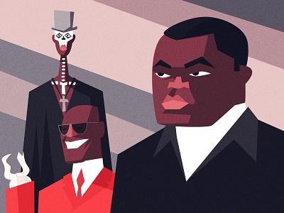 LIVE & LET DIE james bond character design vector illustration