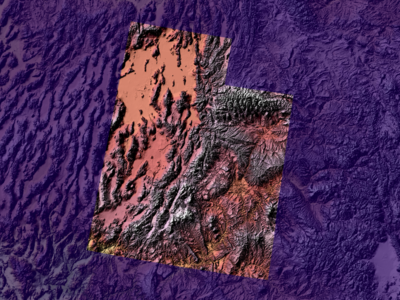 Stylizing a map of Utah purple utah map