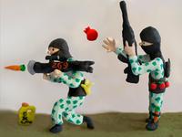 2 vegan terrorists Sculpted Illustration