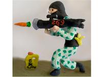 Vegan Terrorist3 Sculpted Illustration