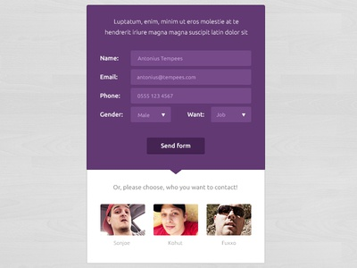 Flat Form Free Template