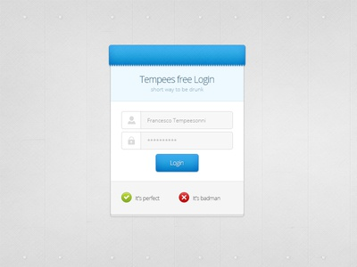 Free login box template