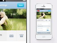 Free mobile settings screen