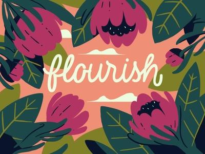 Flourish women empowerment peonies illustrator branding photoshop design 2d illustration