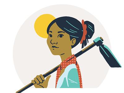 Ancestor Card, Soriya character rice cambodia board game 2d photoshop adobe design illustration
