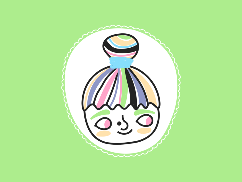 Selfcartoon 🌈 pastels kawaii face cute self portrait illustration