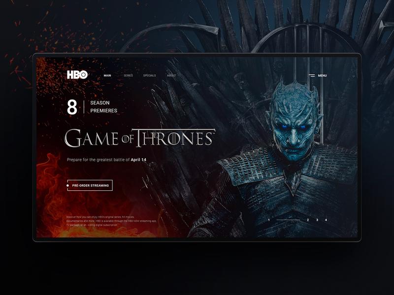 Game of Thrones - 8 Season Premiere (Website Design Concept) web  design user inteface ui ux design dailyui design inteface graphic design website web ux ui winter is coming got game of thrones