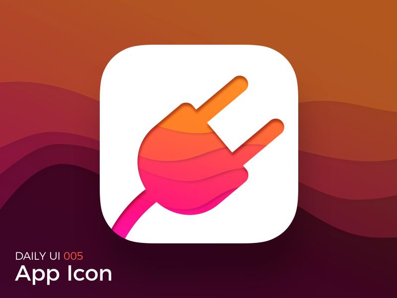 App Icon waves gradient logo icon app dailyui