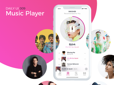 Music Player uiux interface ux ui mobile play iphone x music music player app dailyui