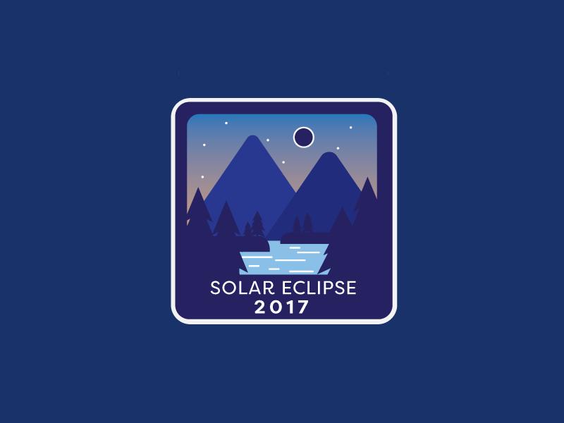 Solar Eclipse 2017 badge logo design mountains vector moon solar eclipse