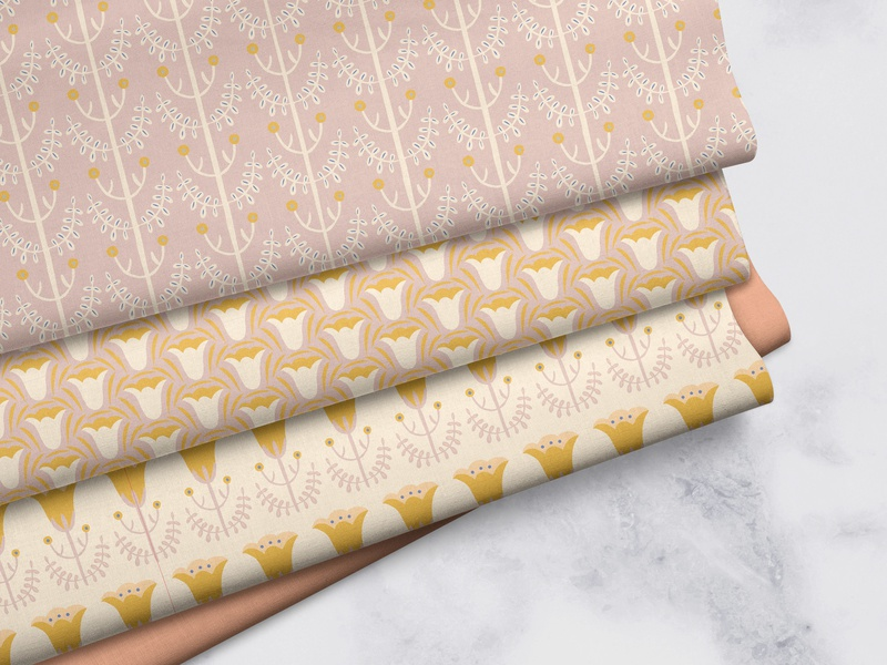 Tulip Pattern Set surface pattern textiles illustration plants patterns floral