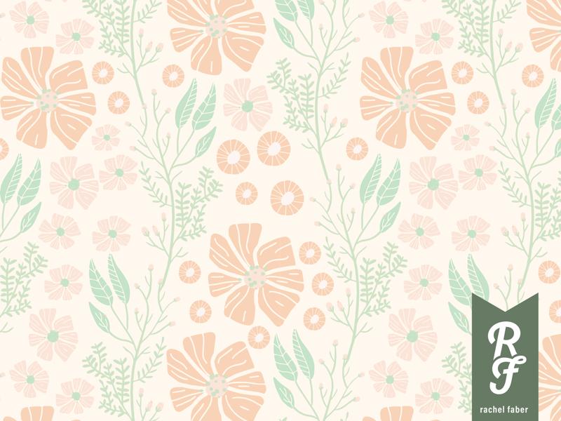 Pastel Florals packaging patterns pastel illustration florals graphic design surfacepattendesign design