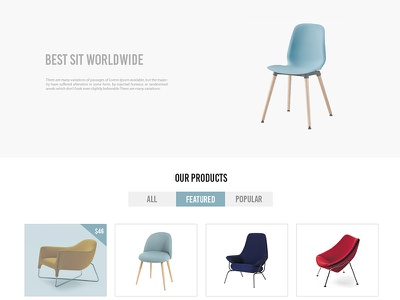 Online Furniture site product cyan eshop furniture chair onlinestore e-commerce