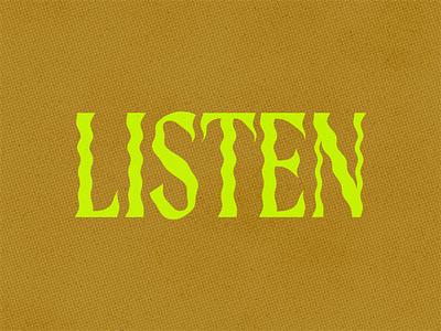 Listen lettering learn listen blm illustration type art design typography