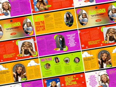 Digital Spreads for The Cultural Reset Issue magazine cover design cover issue gen z design gen z tik tok typography design type art spreads editorial