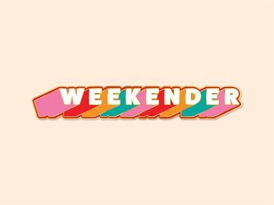 The Weekender Pin pin enamel type art type design pin design enamel pin enamelpin design typography